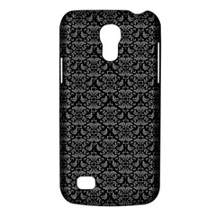 Silver Damask With Black Background Galaxy S4 Mini