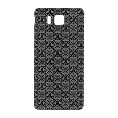 Silver Damask With Black Background Samsung Galaxy Alpha Hardshell Back Case