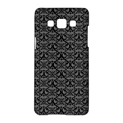 Silver Damask With Black Background Samsung Galaxy A5 Hardshell Case