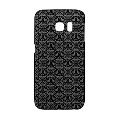 Silver Damask With Black Background Galaxy S6 Edge