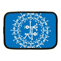 Birds And Olive Branch Circle Icon Netbook Case (Medium)