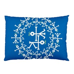 Birds And Olive Branch Circle Icon Pillow Cases