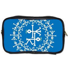 Birds And Olive Branch Circle Icon Toiletries Bags