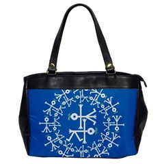 Birds And Olive Branch Circle Icon Office Handbags