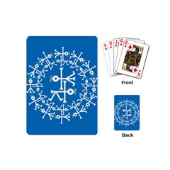 Birds And Olive Branch Circle Icon Playing Cards (Mini)
