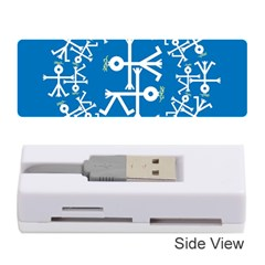 Birds And Olive Branch Circle Icon Memory Card Reader (Stick)