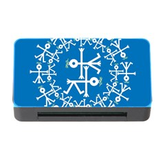 Birds And Olive Branch Circle Icon Memory Card Reader With Cf