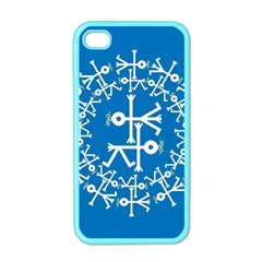 Birds And Olive Branch Circle Icon Apple iPhone 4 Case (Color)
