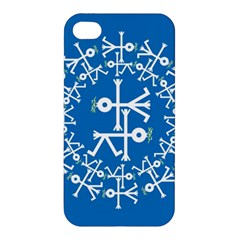 Birds And Olive Branch Circle Icon Apple iPhone 4/4S Hardshell Case