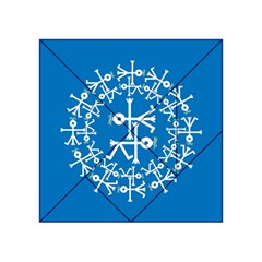 Birds And Olive Branch Circle Icon Acrylic Tangram Puzzle (4  x 4 )
