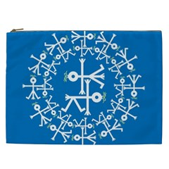 Birds And Olive Branch Circle Icon Cosmetic Bag (XXL)