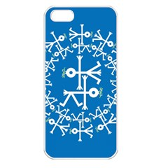 Birds And Olive Branch Circle Icon Apple iPhone 5 Seamless Case (White)