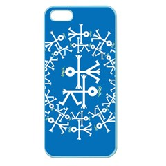 Birds And Olive Branch Circle Icon Apple Seamless iPhone 5 Case (Color)