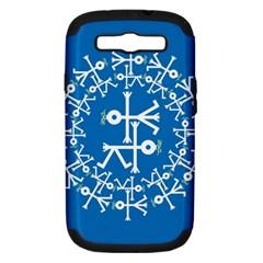 Birds And Olive Branch Circle Icon Samsung Galaxy S III Hardshell Case (PC+Silicone)
