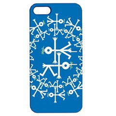 Birds And Olive Branch Circle Icon Apple iPhone 5 Hardshell Case with Stand