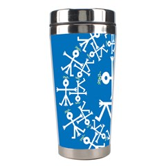 Birds And Olive Branch Circle Icon Stainless Steel Travel Tumblers