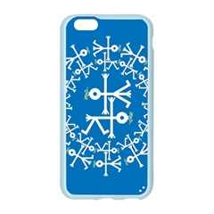 Birds And Olive Branch Circle Icon Apple Seamless iPhone 6/6S Case (Color)