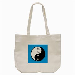Yin And Yang Icon  Tote Bag (Cream)