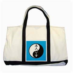 Yin And Yang Icon  Two Tone Tote Bag
