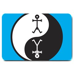 Yin And Yang Icon  Large Doormat