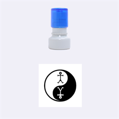 Yin And Yang Icon  Rubber Round Stamps (Small)