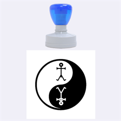 Yin And Yang Icon  Rubber Round Stamps (large)