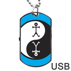 Yin And Yang Icon  Dog Tag USB Flash (One Side)