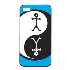 Yin And Yang Icon  Apple Iphone 4/4s Seamless Case (black)