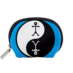 Yin And Yang Icon  Accessory Pouches (Small)