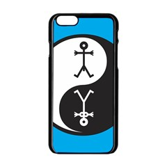 Yin And Yang Icon  Apple iPhone 6/6S Black Enamel Case