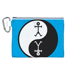 Yin And Yang Icon  Canvas Cosmetic Bag (L)