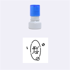 Life Icon  Rubber Round Stamps (Small)