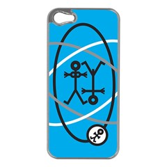 Life Icon  Apple iPhone 5 Case (Silver)