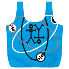 Life Icon  Full Print Recycle Bags (L)