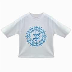 Blue Birds And Olive Branch Circle Icon Infant/Toddler T-Shirts