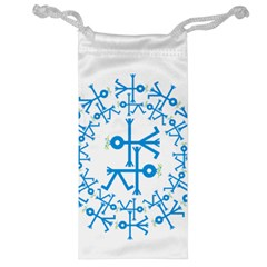 Blue Birds And Olive Branch Circle Icon Jewelry Bags