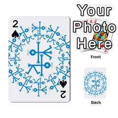 Blue Birds And Olive Branch Circle Icon Playing Cards 54 Designs