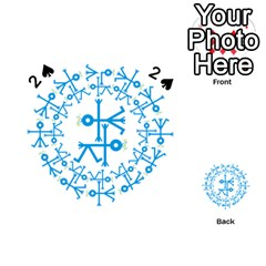 Blue Birds And Olive Branch Circle Icon Playing Cards 54 (heart)