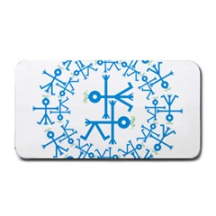 Blue Birds And Olive Branch Circle Icon Medium Bar Mats