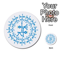 Blue Birds And Olive Branch Circle Icon Multi-purpose Cards (Round)