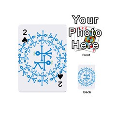 Blue Birds And Olive Branch Circle Icon Playing Cards 54 (Mini)