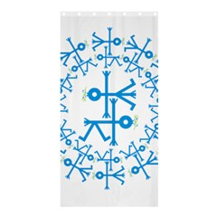 Blue Birds And Olive Branch Circle Icon Shower Curtain 36  X 72  (stall)