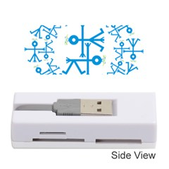 Blue Birds And Olive Branch Circle Icon Memory Card Reader (Stick)