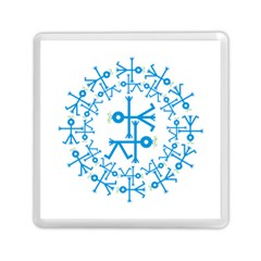 Blue Birds And Olive Branch Circle Icon Memory Card Reader (square)