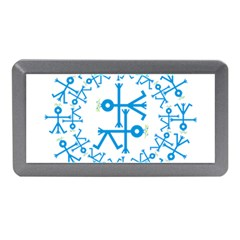 Blue Birds And Olive Branch Circle Icon Memory Card Reader (Mini)