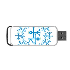 Blue Birds And Olive Branch Circle Icon Portable Usb Flash (two Sides)