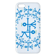 Blue Birds And Olive Branch Circle Icon Apple iPhone 5 Premium Hardshell Case