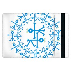 Blue Birds And Olive Branch Circle Icon iPad Air Flip