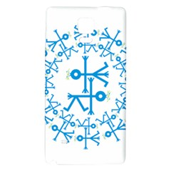 Blue Birds And Olive Branch Circle Icon Galaxy Note 4 Back Case