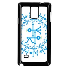 Blue Birds And Olive Branch Circle Icon Samsung Galaxy Note 4 Case (Black)